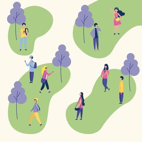 Menschen Outdoor-Aktivitäten vektor