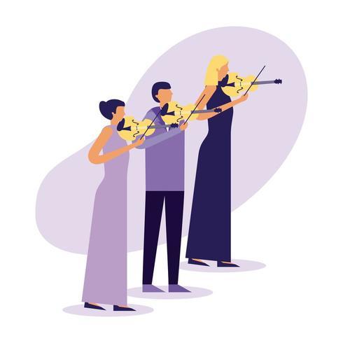 Streichtrio-Musikgruppe vektor