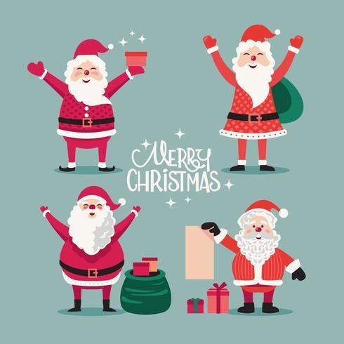 Frohe Weihnachten Santa vektor