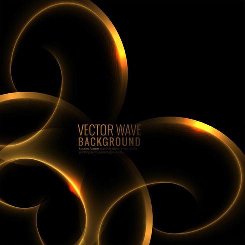 Abstrakter bunter glühender Wellenhintergrundvektor vektor
