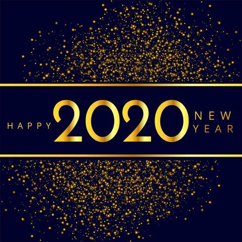 Funkeln-Feierhintergrund des neuen Jahres 2020 vektor