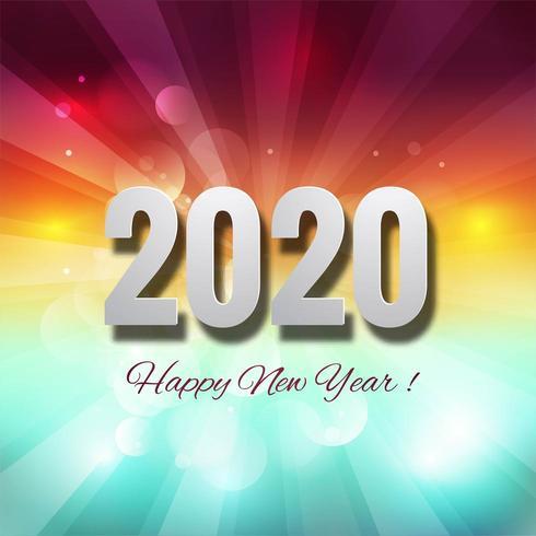 Bunter kreativer Hintergrund des neuen Jahres 2020 der Feier vektor