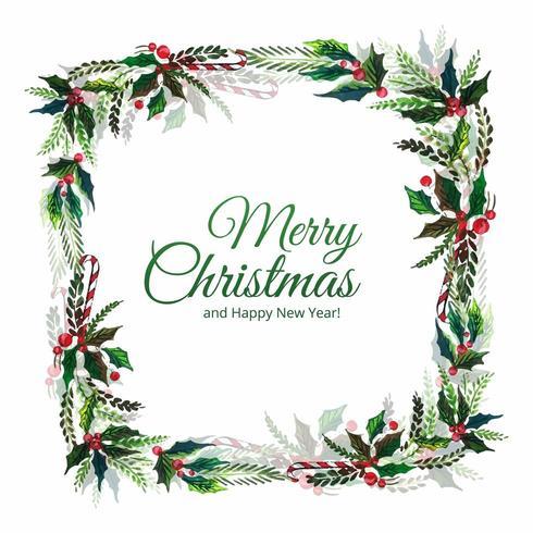 Dekorative Blattfeier der frohen Weihnachten vektor