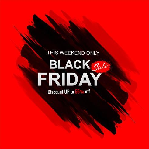 Schwarzer Freitag-Verkauf mit Anschlaghintergrundvektor vektor