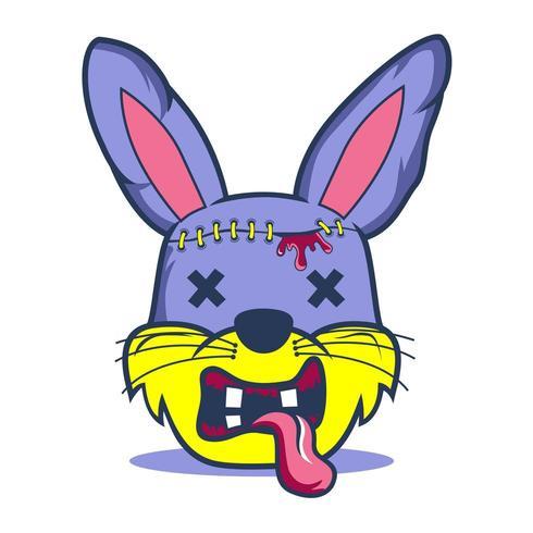 Kaninchen der Zombie vektor