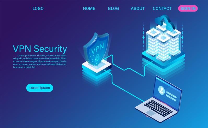 virtuelles privates Netzsicherheitstechnologiekonzept vektor