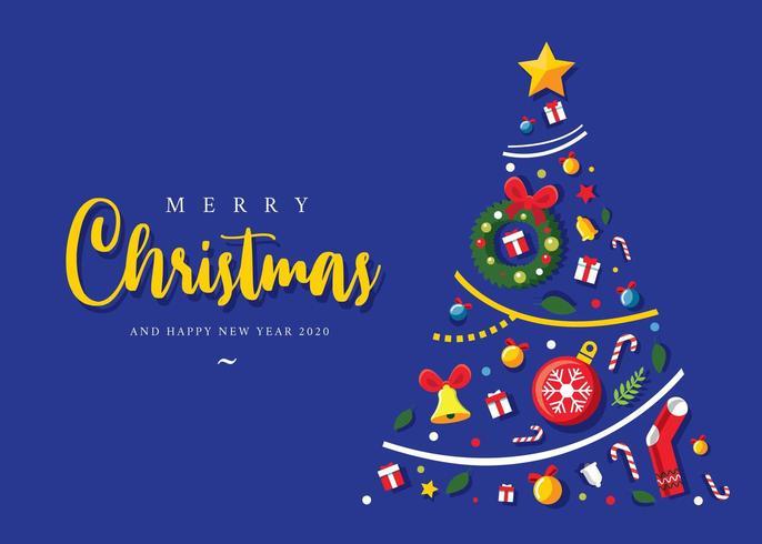 Weihnachtsbaum aus Weihnachtsartikel vektor