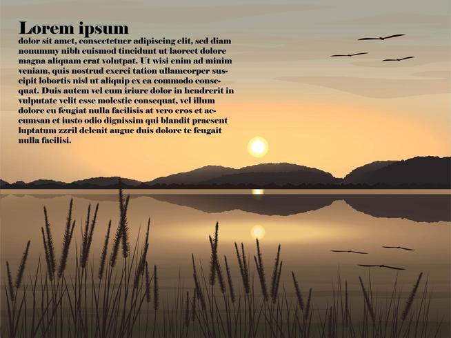 Schönes Naturlandschaftsbild von See vektor