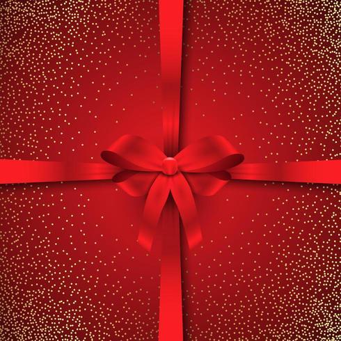 Sparkle Christmas Ribbon Hintergrund vektor