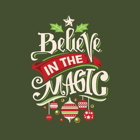 Glauben Sie an das magische Zitat vektor