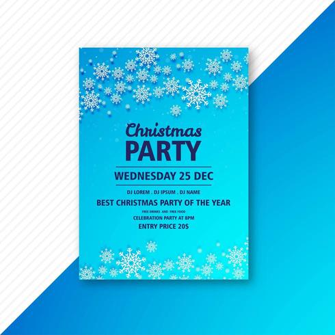 Plakatgestaltung für Weihnachtsfeier Party Vorlage Vektor