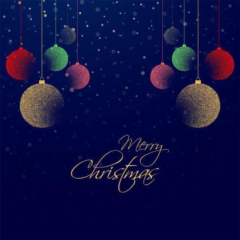 schönes Weihnachten bunten Ball Hintergrund vektor