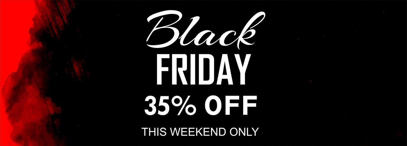 Black Friday Sale Poster oder Banner-Design vektor