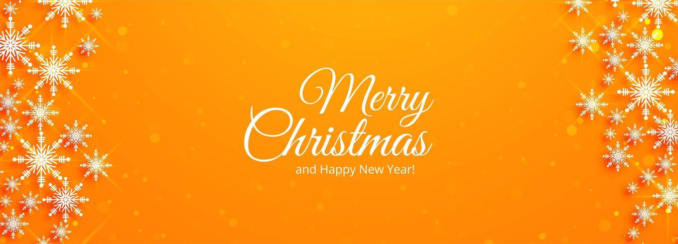 Schöne Weihnachtskartenfestival-Fahnenschablone vektor