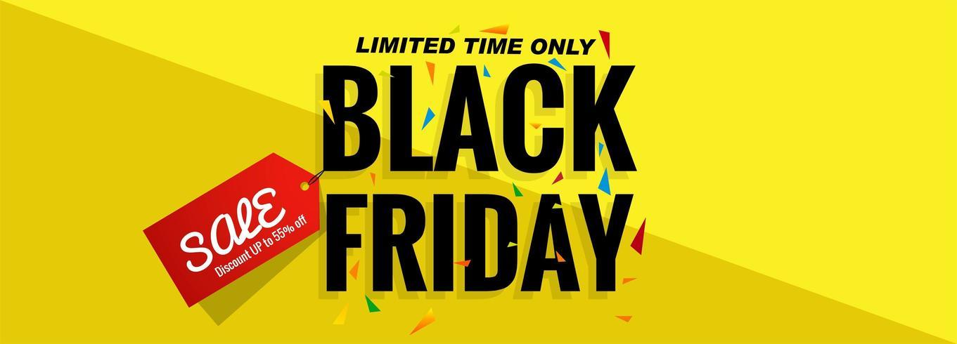 Schwarzer Freitag-Verkaufsfahnen-Planentwurf vektor