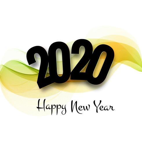 schöne 2020 Neujahr Text Feier Festival Hintergrund vektor