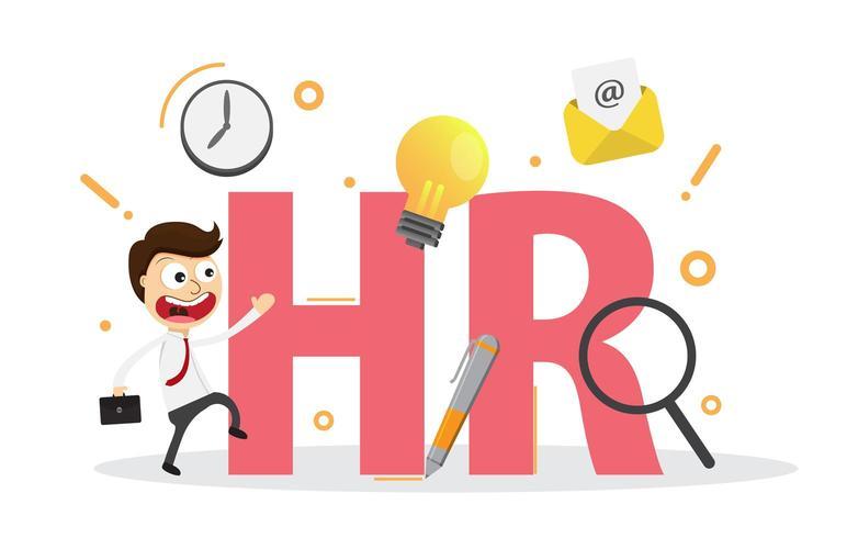 Personalwesen, Rekrutierung, Personalmanagement, Karriere. vektor