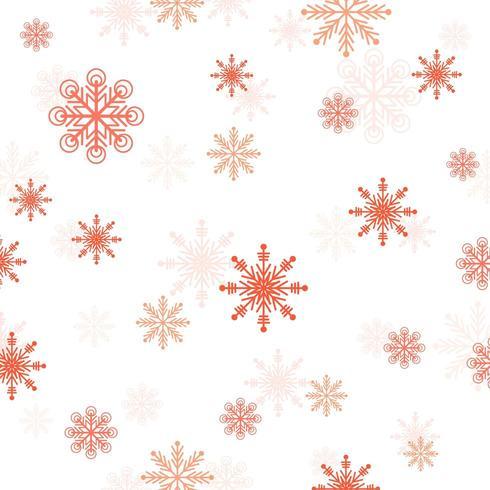 Rad Schneeflockenmuster vektor