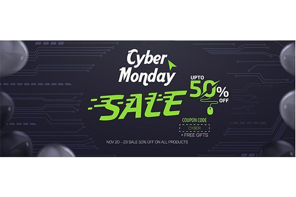 Cyber Monday Social Media Sale Banner Ad Vector Mall Design