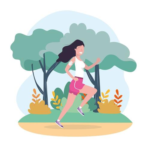 Frauentraining Laufen Sportaktivität vektor
