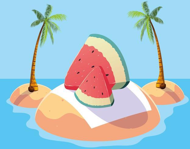 Skiva vattenmelon design vektor