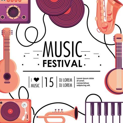 kulturmusikfestivalhändelse vektor