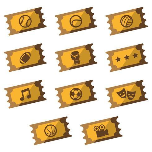 Eintritt Golden Tickets für Veranstaltungen vektor