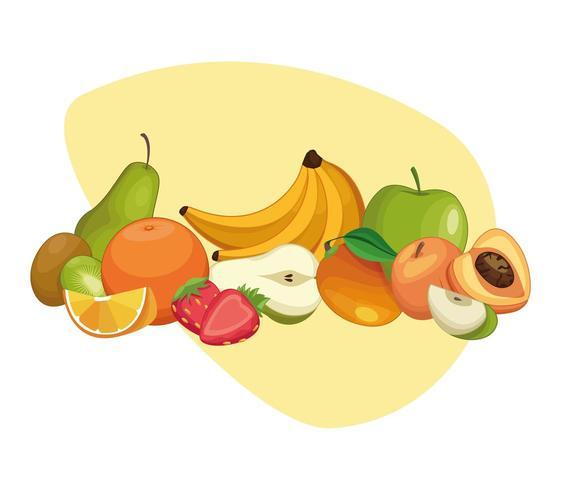 Leckere Früchte Cartoons vektor