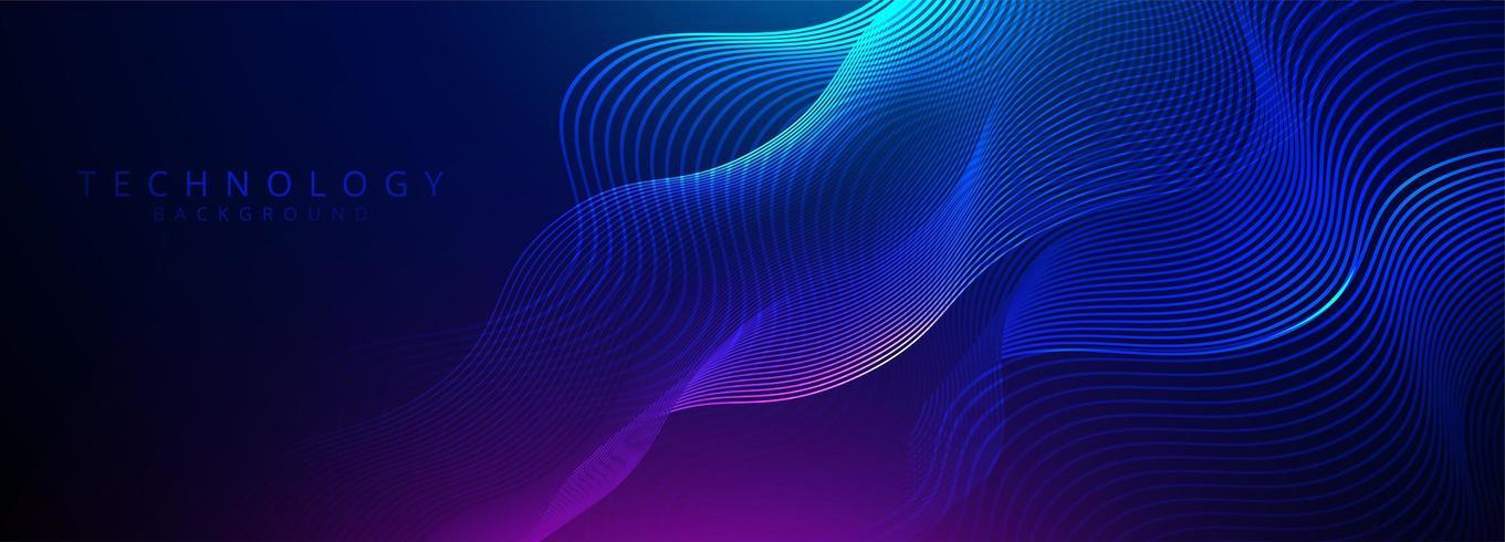 Abstrakt 3D-teknik och vetenskap neonvisualisering vektor