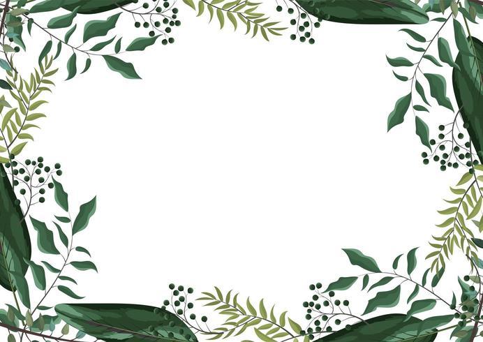 exotische Zweige verlässt Pflanzen Hintergrund vektor