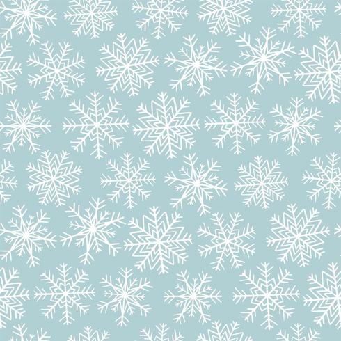 Seamless mönster med snöflingor vektor
