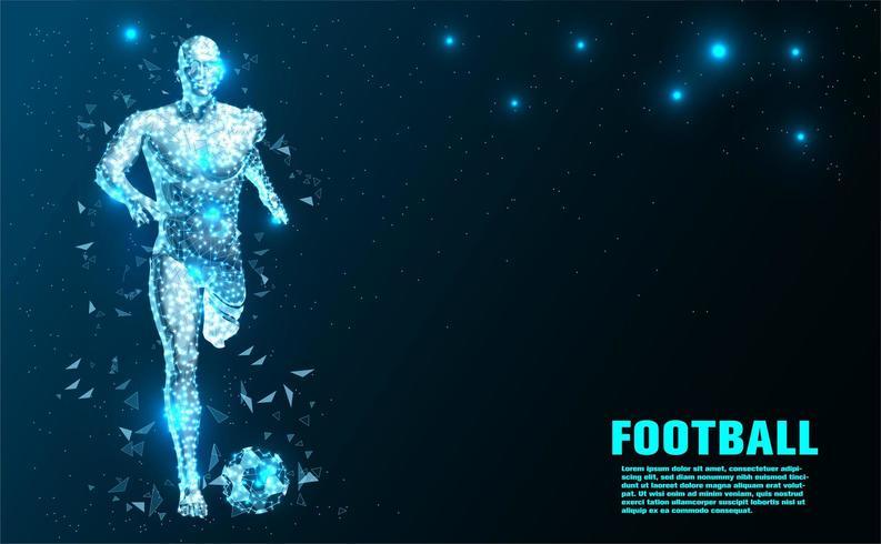 Fußballspieler Abstrakte Technologie vektor