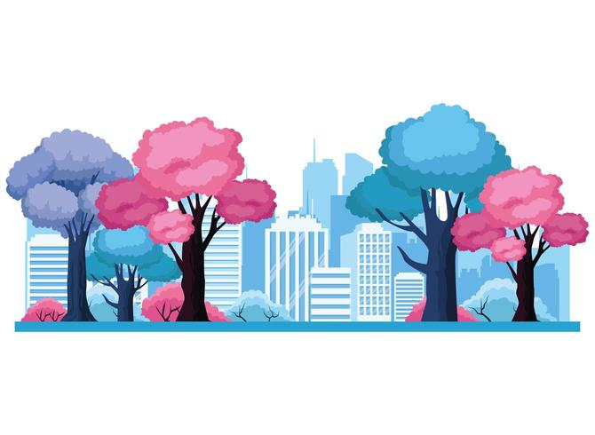 Urban stadsbild landskap vektor