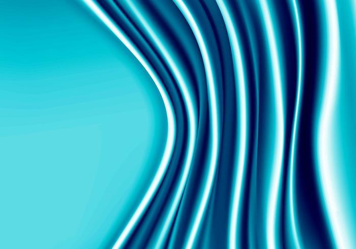 Blaue Gewebesatinwelle mit Leerstellehintergrund. vektor