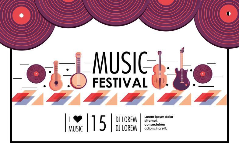 musikfestival till festfest vektor