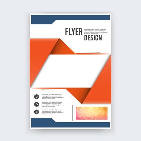 Abstrakt flygblad designbakgrund vektor
