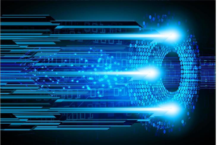 framtida teknologi för cyberkrets vektor