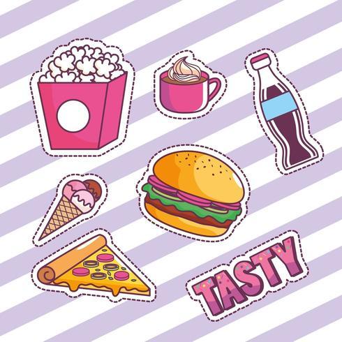 Leckeres und Fast-Food-Design vektor
