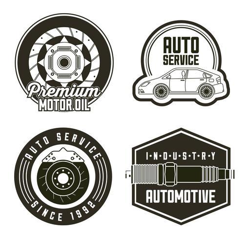 Industrie Automobil Auto Service vektor