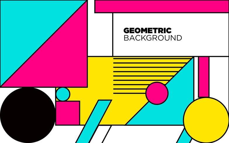 bunter geometrischer abstrakter Hintergrund vektor