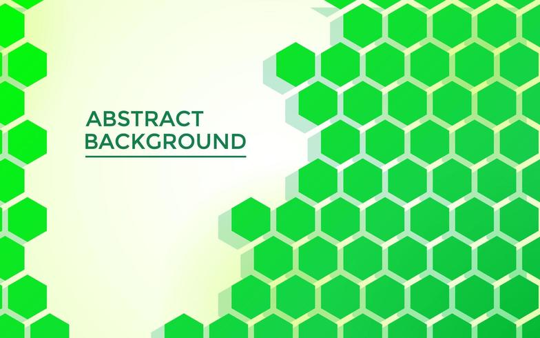 grüner Hexagonzusammenfassungshintergrund, mit futuristischer Art vektor