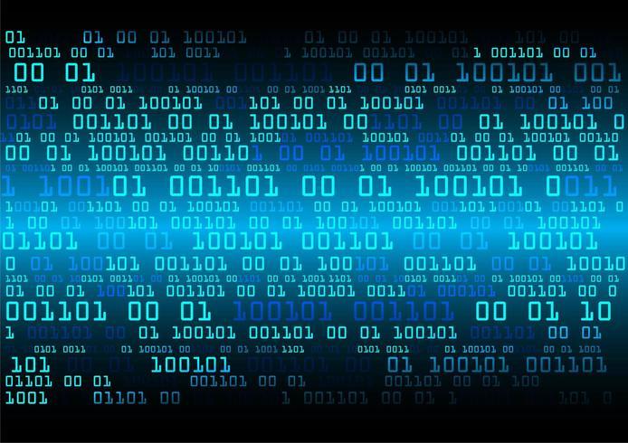 Blå binär cyberkrets framtida teknologi vektor