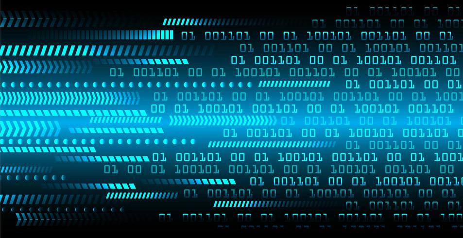 Blått binärt cyberkretsbegrepp vektor