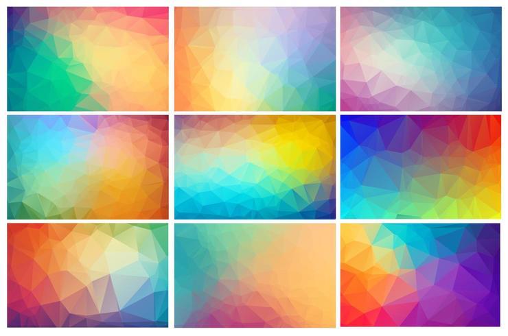 Mehrfarbiger polygonaler Kristallhintergrund vektor