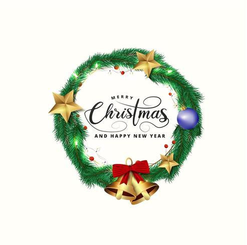 Karte für Weihnachten und Neujahr vektor