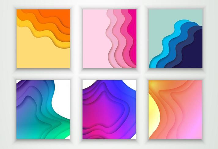 Omslag eller reklambladmall med abstrakt papperssnitt vektor