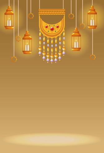 Arabische Elemente Symbole vektor