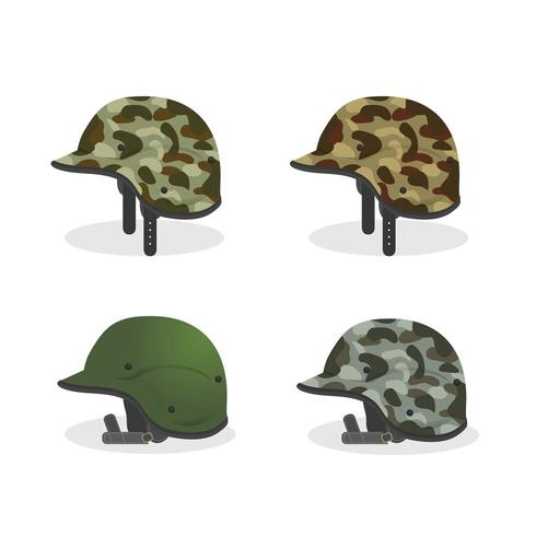 ställa in militär hjälm objekt för veteraner firande vektor