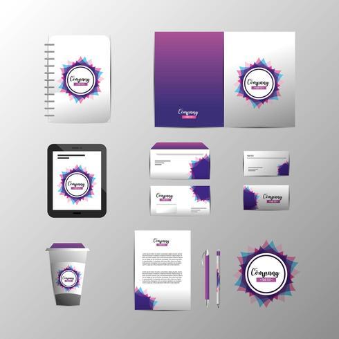 Uppsättning av stationär mall för affärsföretag med dokument vektor