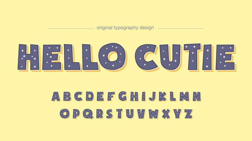 Lila prickmönster typografi vektor